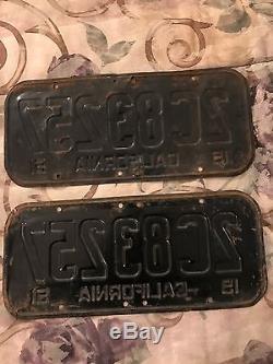1951 Antique / Vintage original California License Plates