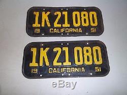 1951 California License Plates