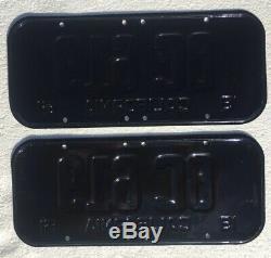 1951 California License Plates Pair Rare As Hens Teeth Restored DMV Clear