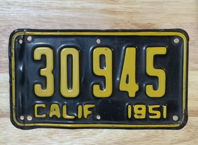 1951 California Motorcycle License Plate Will Fit Harley Indian Honda