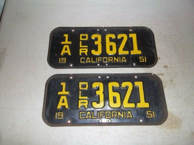 1951 California License Plates Dealer