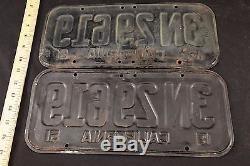 1951 Vintage California CA DMV Cleared & Unrestored License Plate Pair # 3N29619