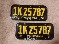 1951 calif license plates