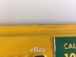 1956-62 Original Yellow California License Plates