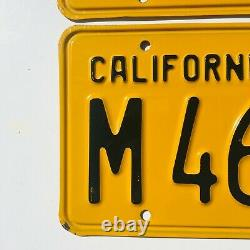 1956 California Commercial License Plates Chevy Ford DMV Clear 1957 Validation