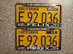 1956 California Commercial License Plates, E 92036, DMV Clear Guaranteed, G