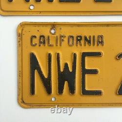 1956 California LICENSE PLATES 1958 Validation Sticker DMV clear YOM
