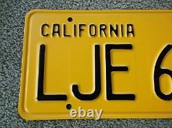 1956 California License Plate # 666 MINT! Black Yellow