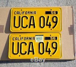 1956 California License Plate Pair YOM