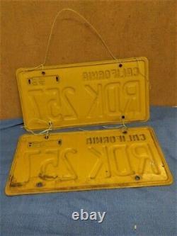 1956 California License Plates-pair
