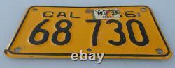1956 California Motorcycle License Plate Harley Bsa Indian Norton Triumph Bmw +