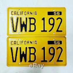 1956 California Plates DMV Clear Restored VWB 192 volkswagen bug vwbug vwbus