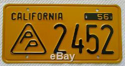 1956 California Press Photograher License Plate NOS