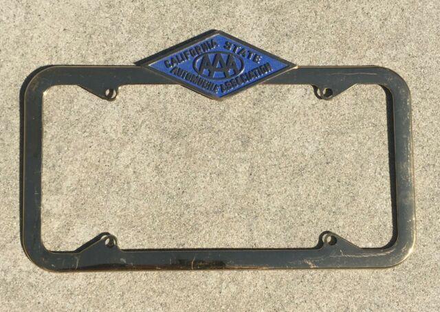 1956 California State Automobile Association Vintage Dealer License Plate Frame