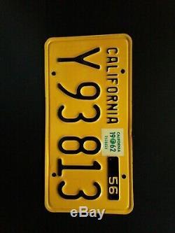 1956 California Truck License Plate set Great Original Condition
