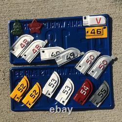 1956 California license plate pair HBA 813 YOM DMV clear Ford Chevy 1957 1958