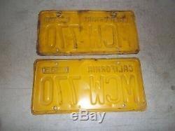 1956 California license plates