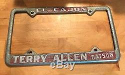 1960s EL Cajon California Terry Allen Datsun License Plate Frame Dealership