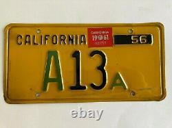 1961 1956 California License Plate State Assembly Political Legislature RARE