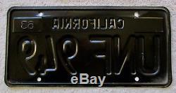 1963,1964,1965,1966,1967,1968,1969 California License Plate Pair DMV Clear