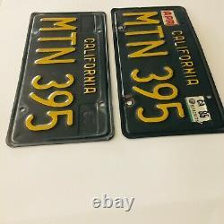 1963-1969 California Black License Plates DMV Clear Ford Chevy
