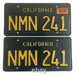 1963-1969 California Black License Plates DMV Clear Ford Chevy 1965 Validation