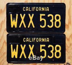 1963 1969 California License Plate PAIR / SET