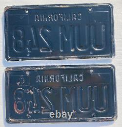 1963-69 California License plates pair, DMV Clear withframes 67 Mustang
