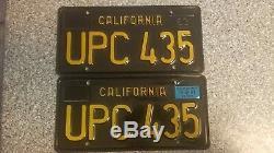 1963 Black California License Plates, 1967 Validation, DMV Clear Guarranteed, EX