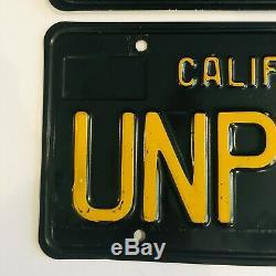 1963 Black California License Plates 1968 1969 Sticker DMV Clear Guaranteed, VG