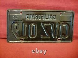 1963 CALIFORNIA Black/Gold license plates (pair)
