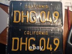 1963 CALIFORNIA License Plates Pair Restored DMV Clear YOM