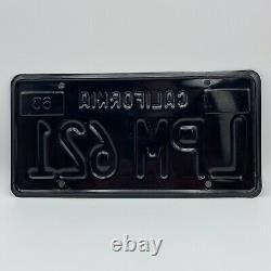 1963 California Black License Plate Set Unrestored DMV Cleared LPM 621