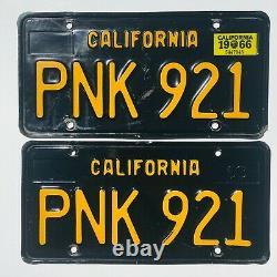 1963 California Black License Plates DMV Clear YOM 1966 Validation