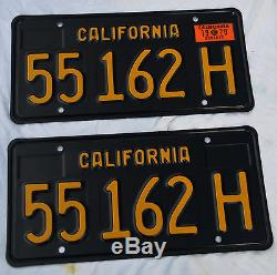 1963 California Black License Plates, Nos And Mint. Never Mounted