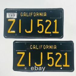 1963 California Black Plates 1963-1969 years 1969 Z28 Boss 429 1969 Roadrunner