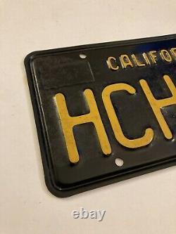 1963 California CA Black License Plates Pair Unrestored YOM DMV Clear 1966 1967