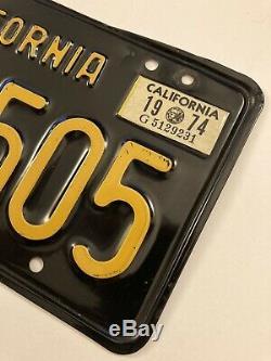 1963 California CA Black License Plates Pair Unrestored YOM DMV Clear 73 74 Tag