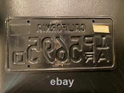 1963 California Dealer License Plate 1A DLR 5695 D 1963 Base -1973 and 1975 Tabs
