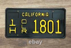 1963 California Dealer License Plate Original CA Vintage Display Only