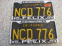 1963 California License Plates, 1965 Validation, DMV Clear Guaranteed, G