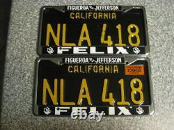 1963 California License Plates, 1965 Validation, DMV Clear Guaranteed, Natural