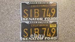 1963 California License Plates, 1966 Validation, DMV Clear Guaranteed, G