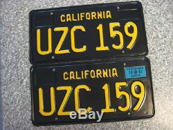 1963 California License Plates, 1967 Validation, DMV Clear Guaranteed, Restored