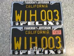 1963 California License Plates, 1968 Validation, DMV Clear Guaranteed, NM
