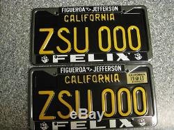 1963 California License Plates, 1969 Validation, DMV Clear Guaranteed, Restored