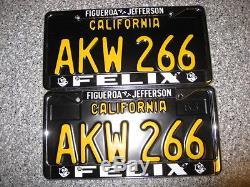 1963 California License Plates, AKW 266, DMV Clear Guaranteed, Restored
