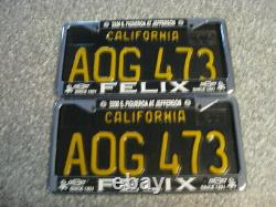 1963 California License Plates, DMV Clear Guaranteed, VG