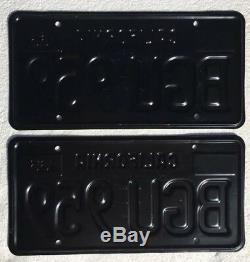 1963 California License Plates Pair DMV Clear Professionally Restored