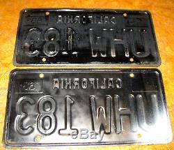 1963 California Plates 1964 65 1966 67 68 69 Buick Cadillac Oldsmobile Corvette